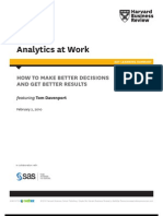 Analytics at Work - how to make better decision and get better results