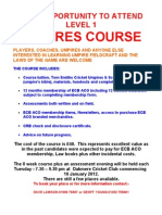 Umpire Course Poster 3