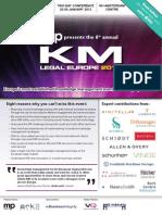 KM Legal Europe 2012