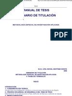 METODOLOGÍA ESPECIAL DE INVESTIGACIÓN APLICADA