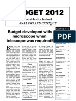 Social Justice Ireland Budget 2012 Analysis and Critique