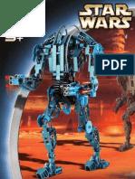 LEGO Super Battle Droid Technic Instruction Manual 8012