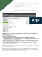 SysAid Backup & Restore