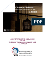 Audit of Proactive Disclosure-A Toolkit
