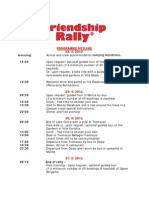 Programme and Booking Form.friendship Rally.monza.italy
