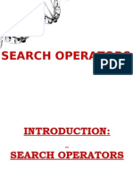Search Operators in SEO