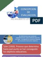 Concepción de Evaluación