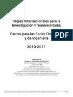 Reglas Internacionales_ Feria Científica