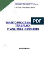 Pt-Dir Processual Trabalho Analista