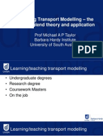 1.3 - Teaching Transport Modelling