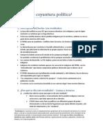 Analisis de Coyuntura Politica Result a Dos TIPNIS SCZ