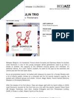 """Press Release of Jozef Dumoulin's album """"Rainbow Body"""" (BEE048)"""