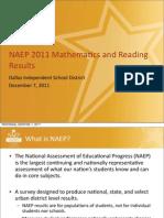NAEP 2011 Math and Reading Results TUDA DallasISD-Final