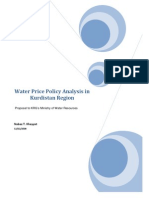Water Price Policy Analysis in Kurdistan Region