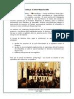 Consejo de Ministros Del Peru