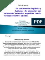 Desarrollo de la competencia lingüística y social en estudiantes de preescolar con necesidades educativas especiales usando recursos educativos abiertos