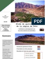 Etude de quatre oasis dans la région de Tata