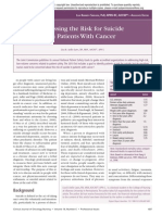 Assessing the Risk for Suicide in Patients With Cancer