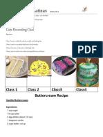 Cake Decorating Class Beginners