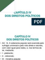 CONSTITUIÇÃO - CAPÍTULO IV -  DIREITOS POLITICOS