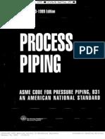 Asme b31.3 Process Piping (1999)