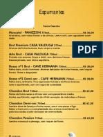 Cardápio WEB Bebidas