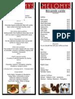 dessert menu 2011