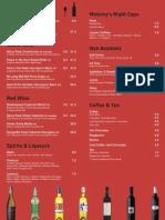 melomys drink menu