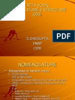 Fatty Acids. Nomen & Str,Clssnt