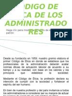 expo CÓDIGO DE ÉTICA DE LOS ADMINISTRADORES