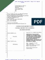 LIBERI v TAITZ (C.D. CA) - 443 - OBJECTION re