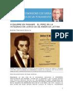 Vidaurre en Panamá - El Perú en la integración jurídica de América Latina. Por Andres Townsend