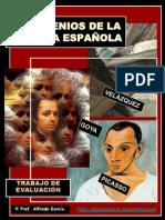 TRES GENIOS DE LA PINTURA ESPAÑOLA. Trabajo y test