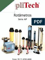 Catálogo rotametro Applitech