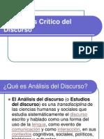 El Análisis Crítico del Discurso