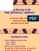 20 the Case of the Difficult Airway