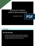 Density Bonus Briefing - Dec. 2011