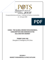 China the Global Driver of Oil n Fats