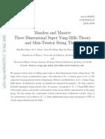 Dah-Wei Chiou, Ori J. Ganor, Yoon Pyo Hong, Bom Soo Kim and Indrajit Mitra- Massless and Massive Three Dimensional Super Yang-Mills Theory and Mini-Twistor String Theory