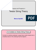 Marcus Spradlin- Progress and Prospects in Twistor String Theory