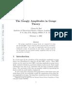 Chuan-Jie Zhu- The Googly Amplitudes in Gauge Theory