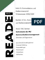 Modul 106 - Reader - Seminar - WS08-09 - PR