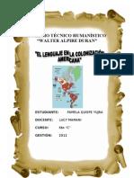 Lenguaje en La Colonizacion