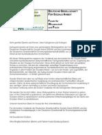 Stellungnahme der Vorstände der DGSA und der Kommission Sozialpädagogik in der DGfE zur Lage der Sozialen Arbeit an den bundesdeutschen Hochschulen