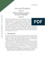 Itzhak Bars- Twistors and 2T-physics