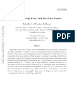 Itzhak Bars and Cemsinan Deliduman- High Spin Gauge Fields and Two-Time Physics