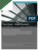 Case Paper – Bata Insurance