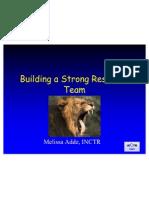 Building a Strong Research Team - Melissa Adde