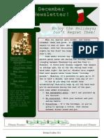 Davis Swim and Fitness December Newsletter