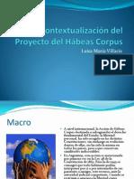Contextualización del Proyecto del Hábeas Corpus